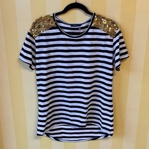 THML Striped Sequin T-shirt